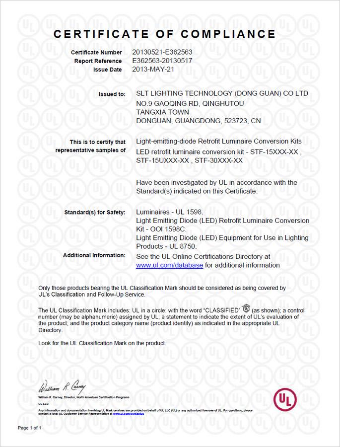 UL Certificate for LED Tube _ CERTIFICATE _ LED Flood Light_www.led ...