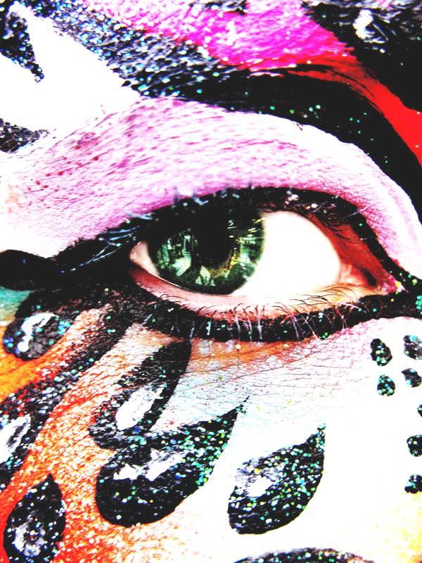 眼部人体彩绘写真