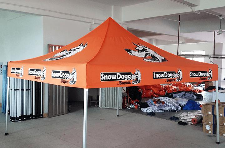 3x3m printed tent