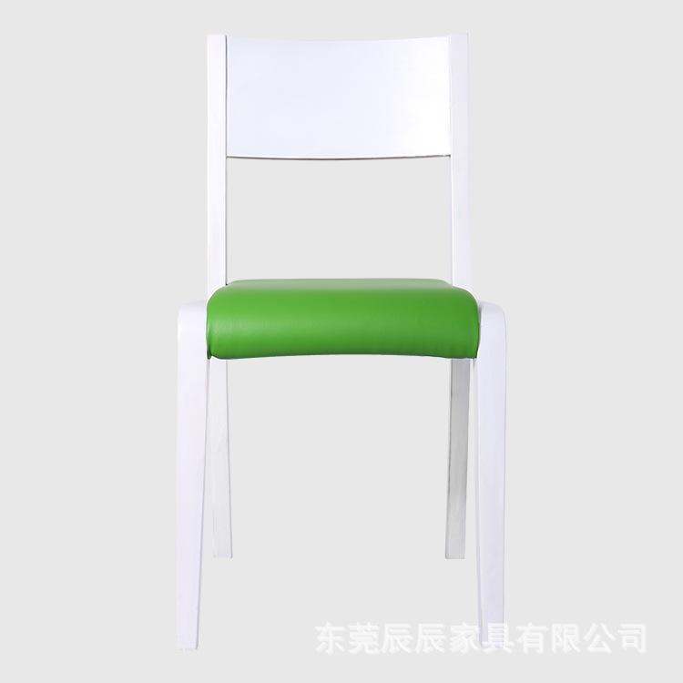 实木餐椅靠背皮质实木椅子会议办公家具 时尚耐用家用靠背餐椅