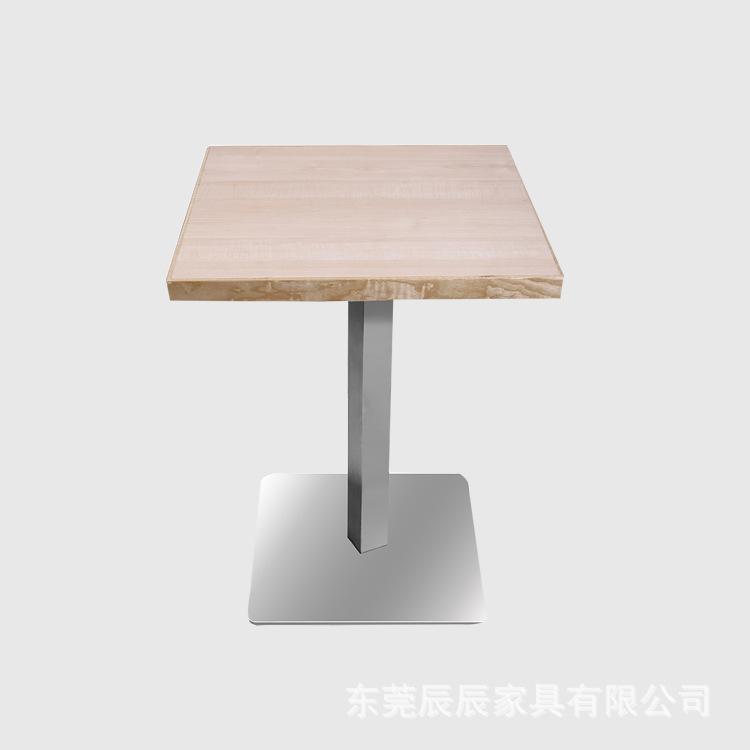厂家定制 时尚西餐桌 咖啡桌 实木封边餐桌 铝合金封边餐桌