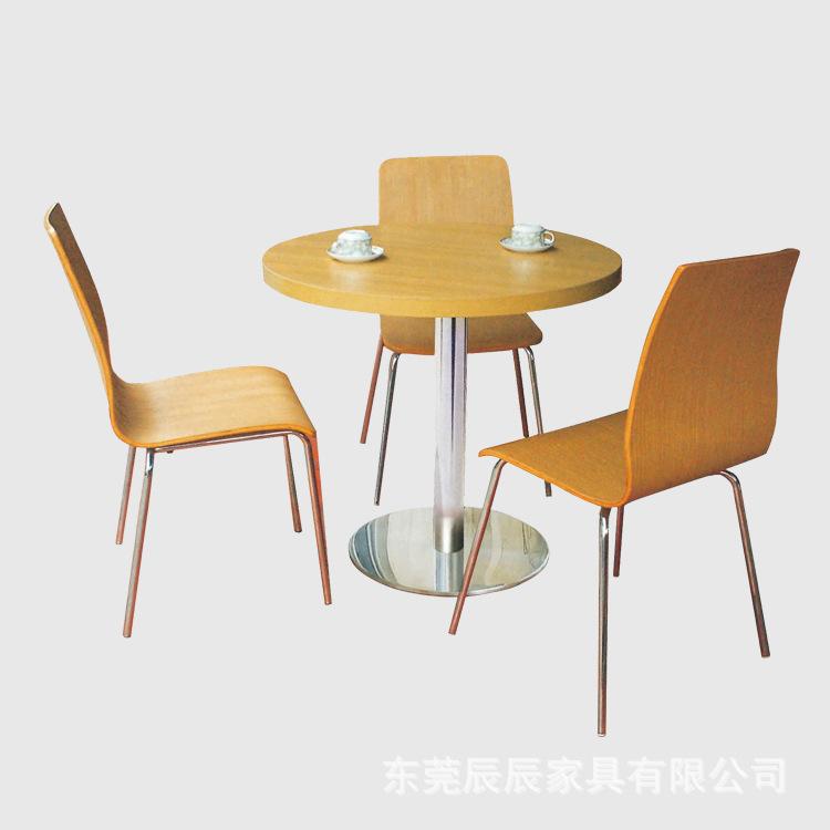 实木餐桌椅组合 现代中式 家用餐桌食堂小吃店奶茶店服务区餐桌椅
