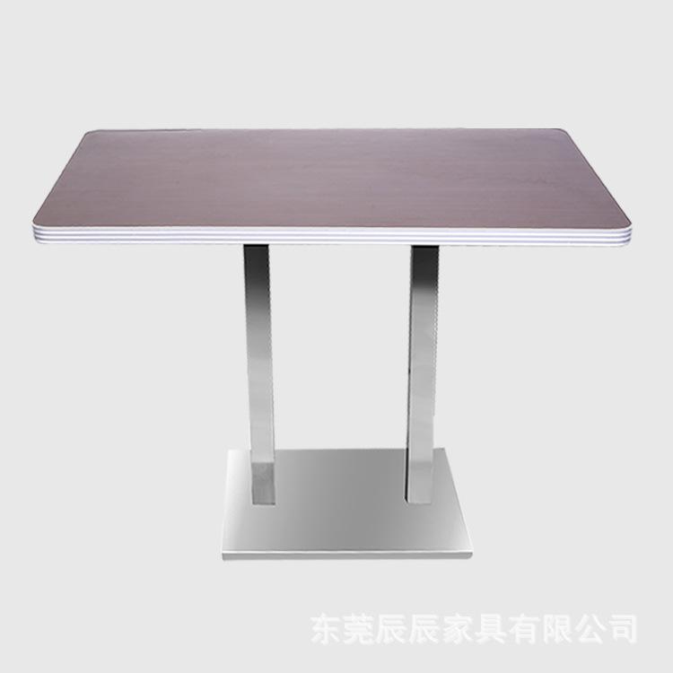 厂家直销西餐桌 火锅桌 咖啡桌 餐桌实木封边 铝合金封边餐桌