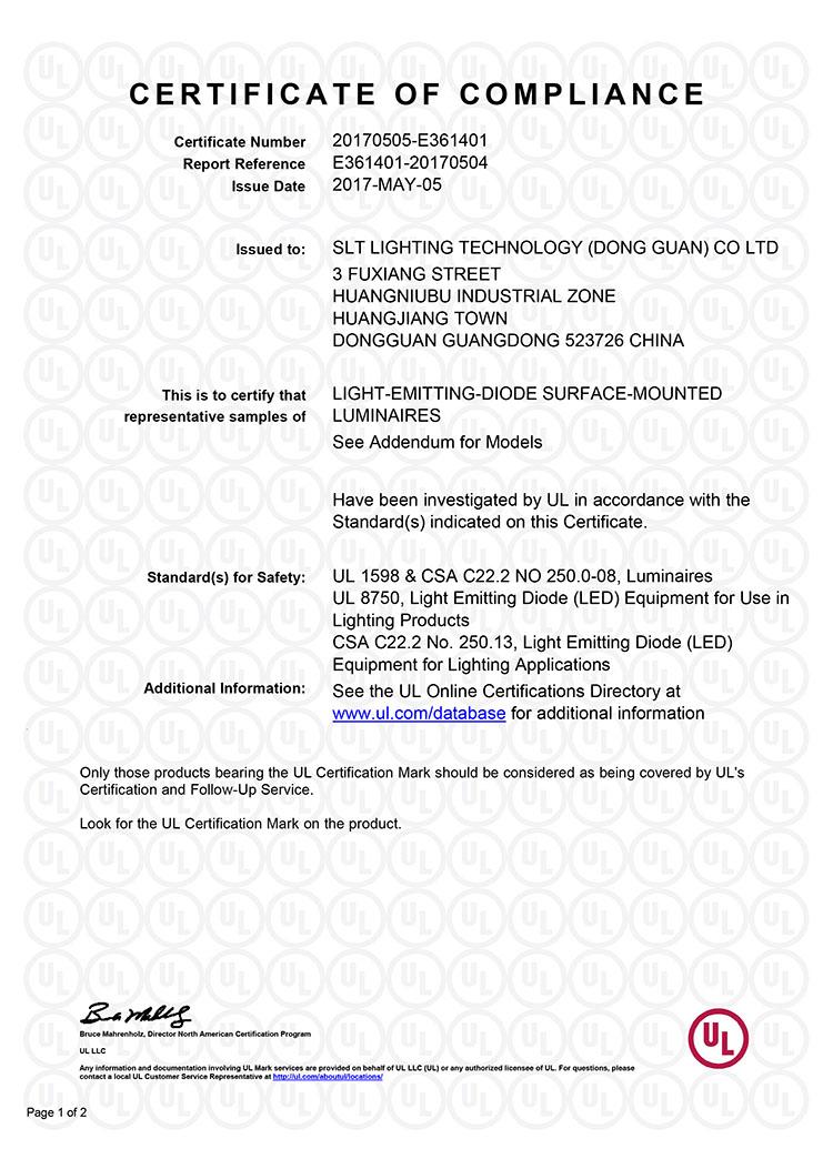 Ul cul certificate for ufo high bay light certificate led shoebox ufo ul 1g xflitez Images
