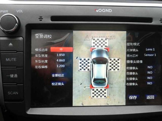 显示效果可以匹配原车自带360全景系统