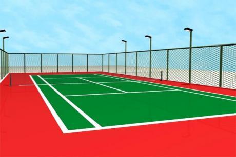 硅pu网球场规划设计