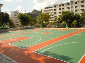 硅pu篮球场效果图